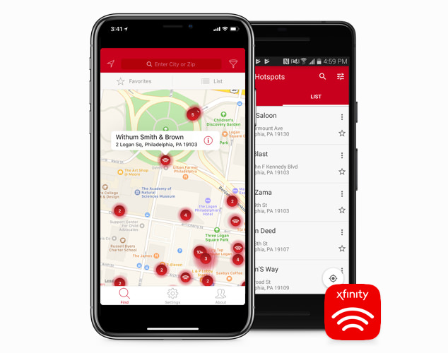half image xfinity wifi hotpsots mobile - apps