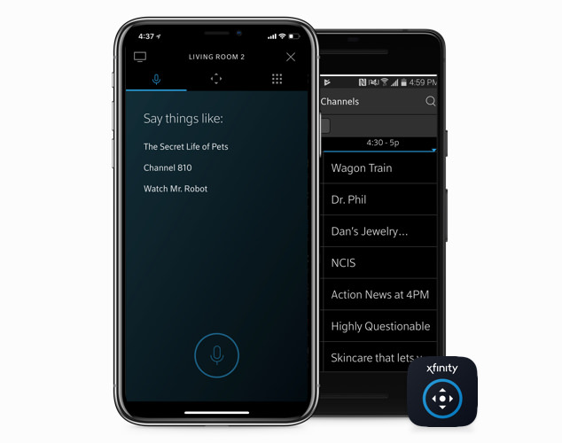 half image xfinity remote mobile - apps