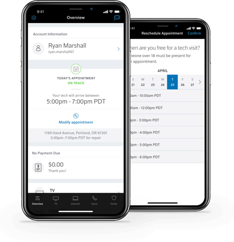Manage appointments on smartphone