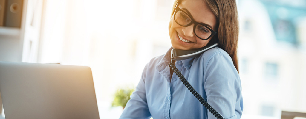 woman on business phone