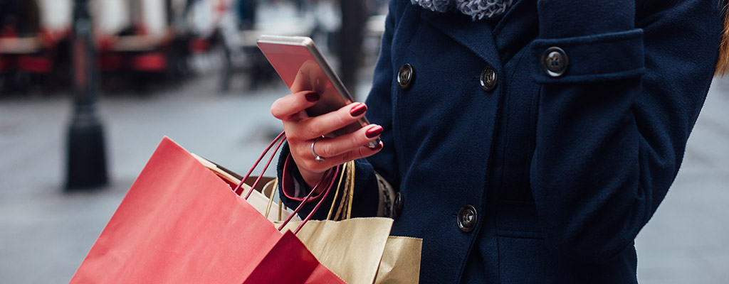 Black Friday Shopping with Smartphone