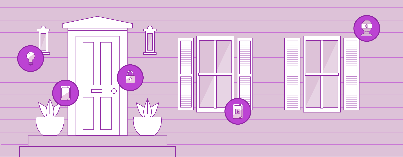 Xfinity Home Pórtico del frente y vía de acceso