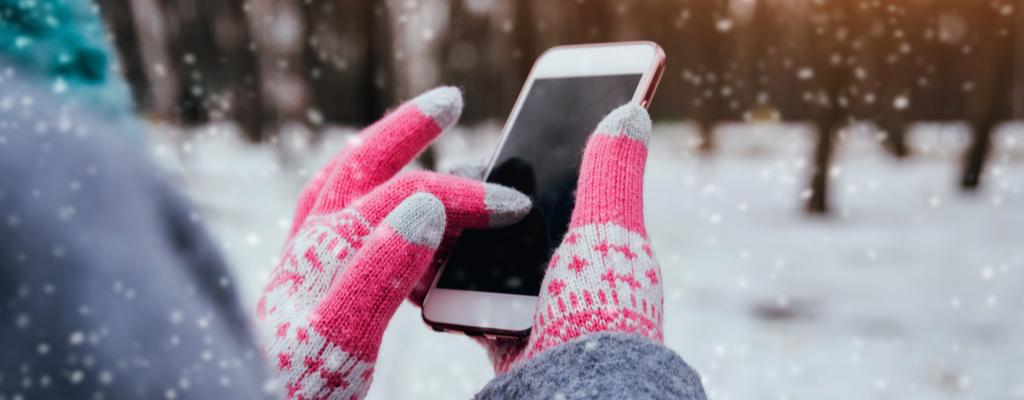 Consejos sobre el teléfono en el clima invernal