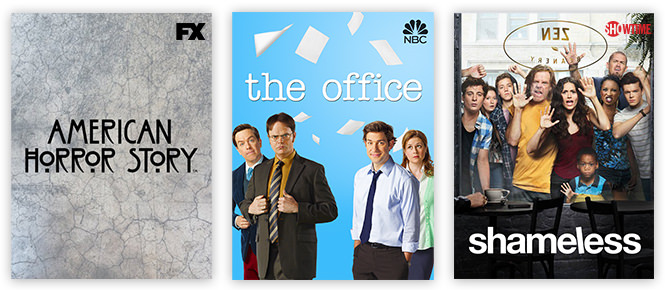 netflix - american horror story, the office, shameless