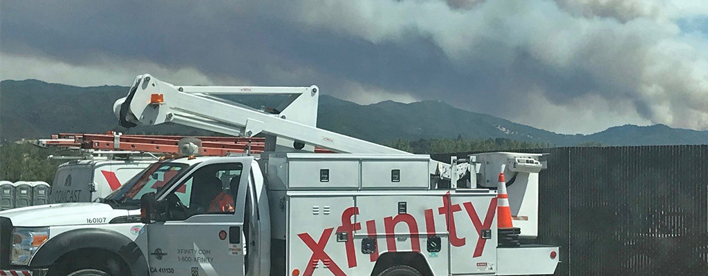 xfinity california wildfires