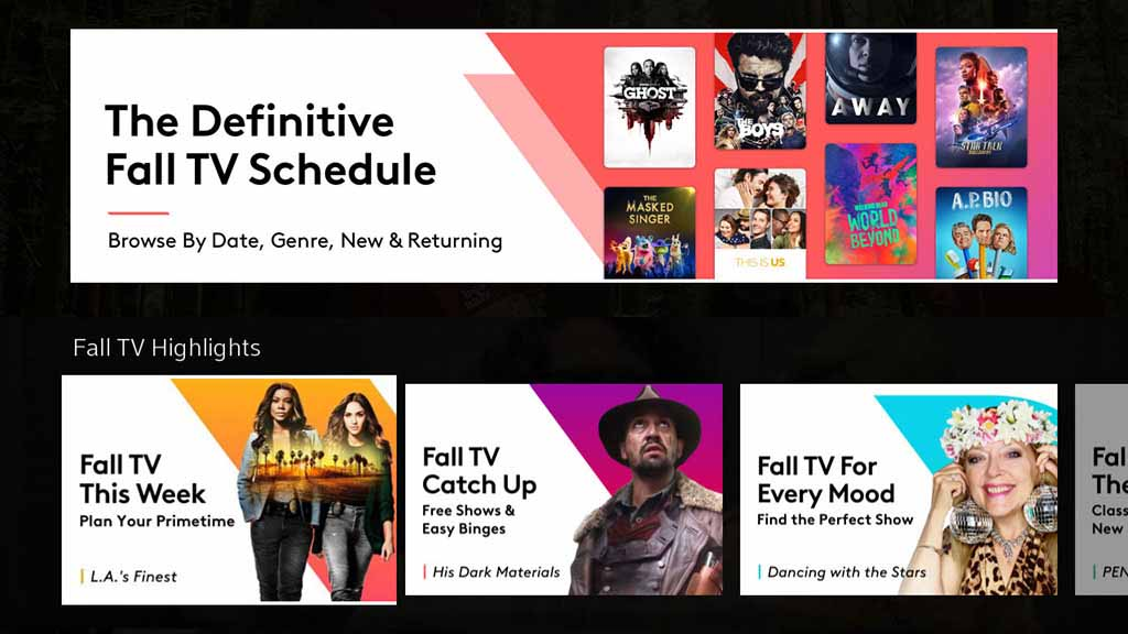 Calendario de TV de otoño de X1
