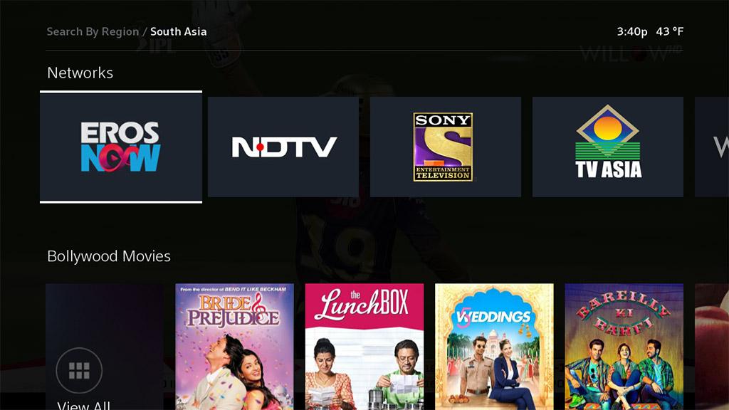 international tv sur asiático