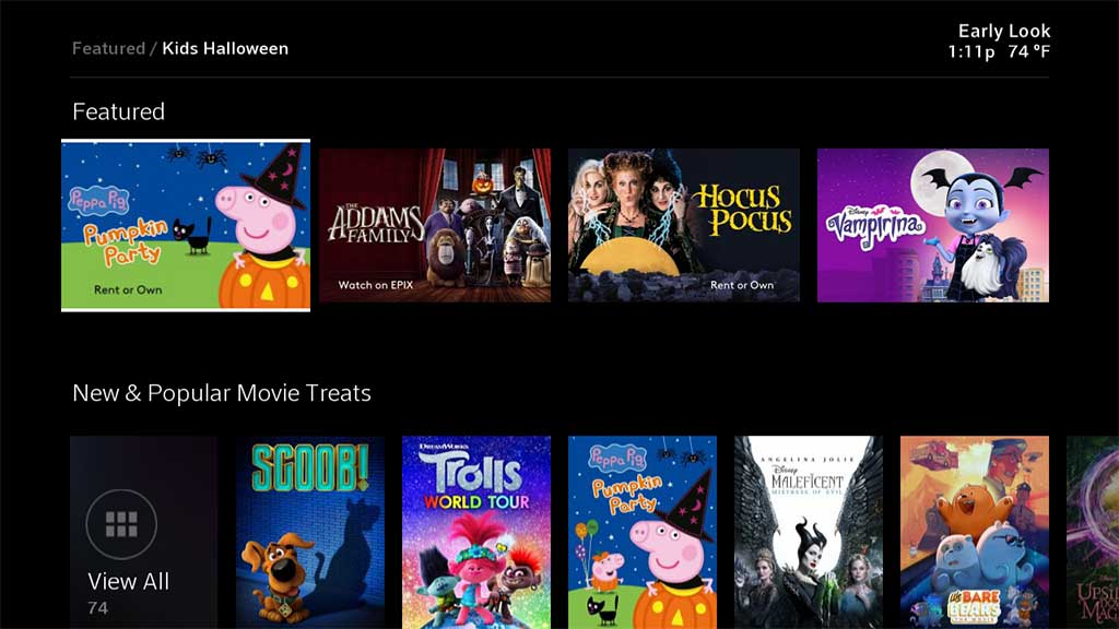 Kids Halloween on Xfinity X1