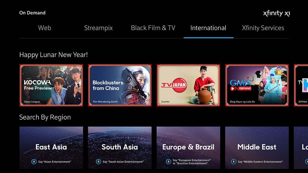 Lunar New Year on Xfinity X1
