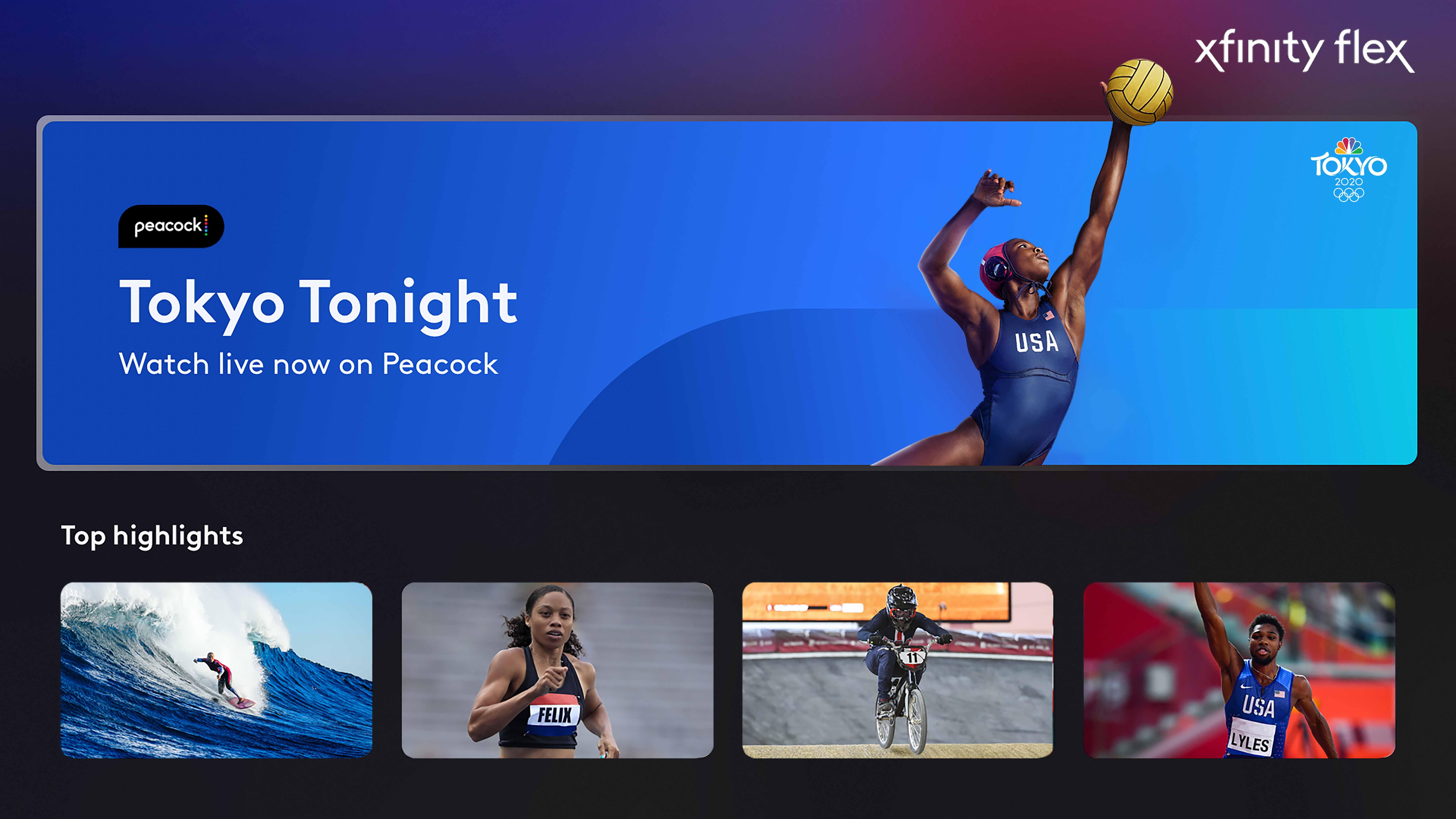 Team USA y los Juegos Olímpicos de Tokio 2020 en Xfinity Flex