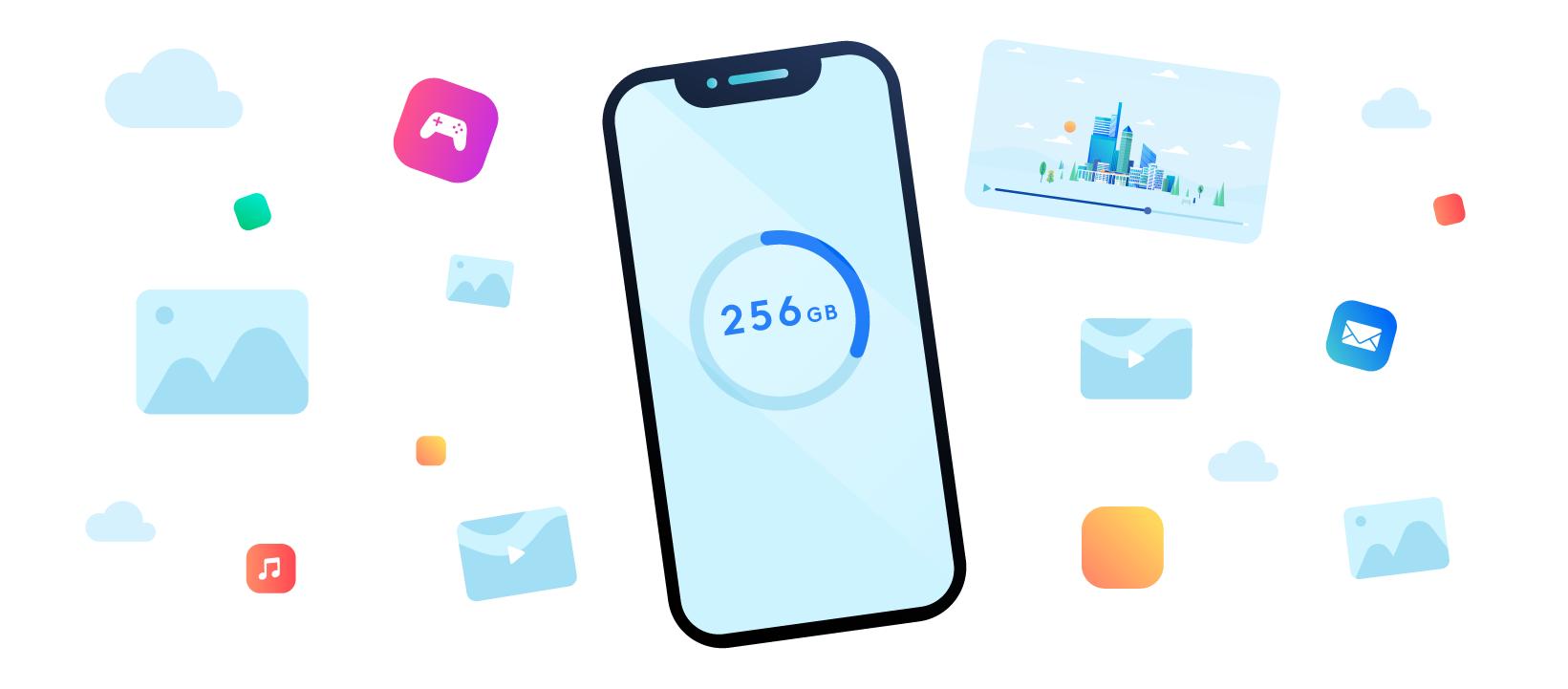 ¿Cuánto almacenamiento de teléfono necesitas realmente?