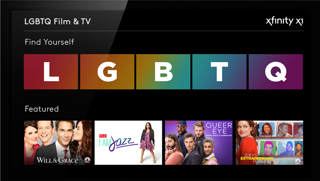 Xfinity LGBTQ Destination on X1
