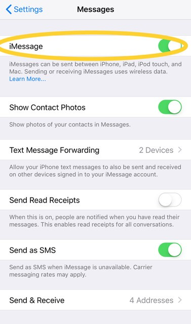 imessage settings 2