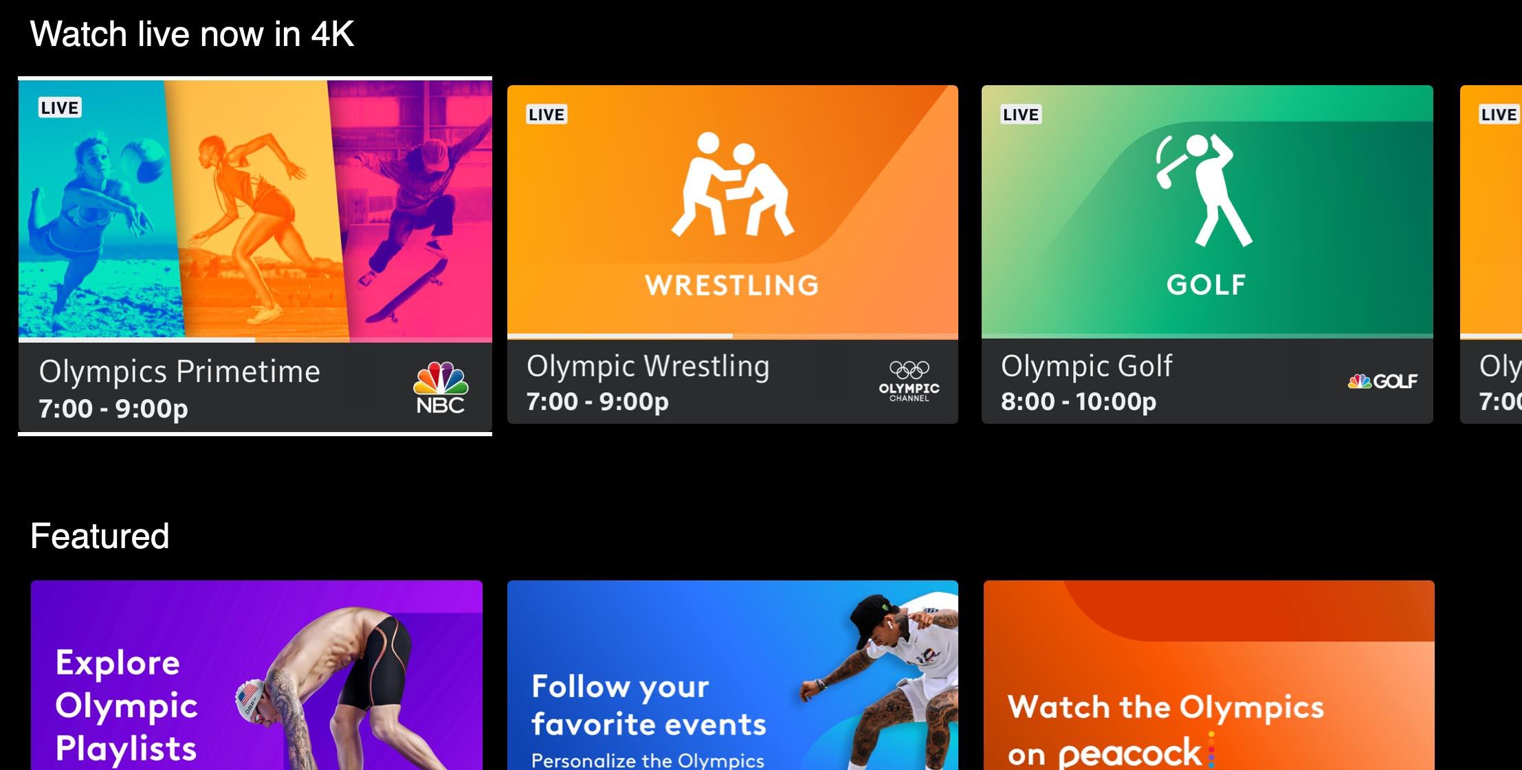 Cobertura en vivo de los Juegos Olímpicos de Tokio 2020 en 4K
