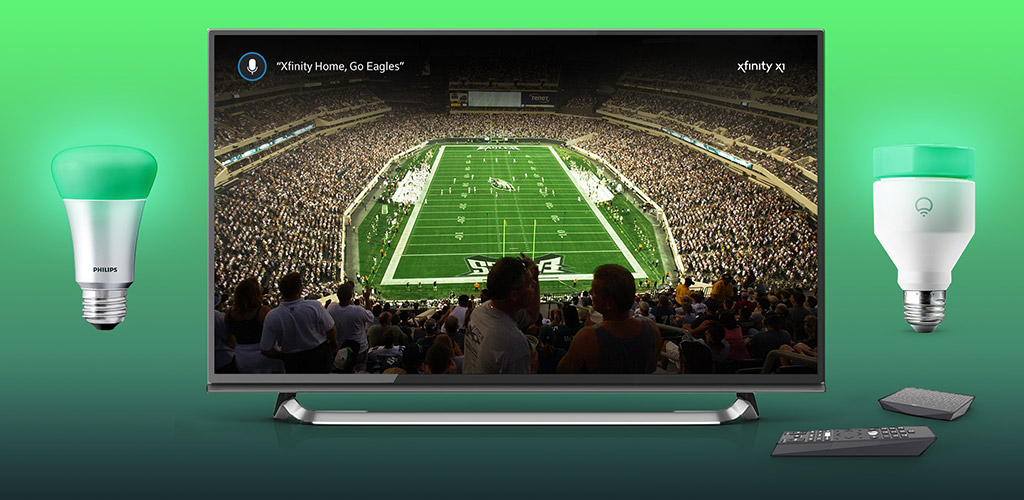 Xfinity Home NFL Lights Example