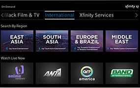 xfinity international tv