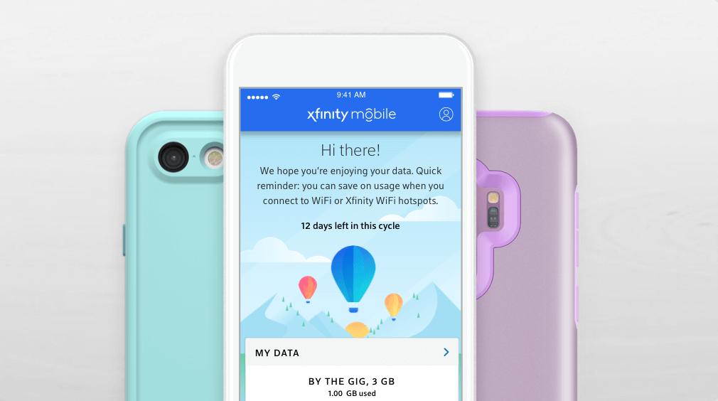 Teléfono con XfinityMobileen la pantalla