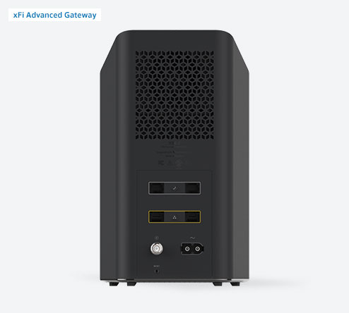 Xfinity xFi Gateway – back of the gateway