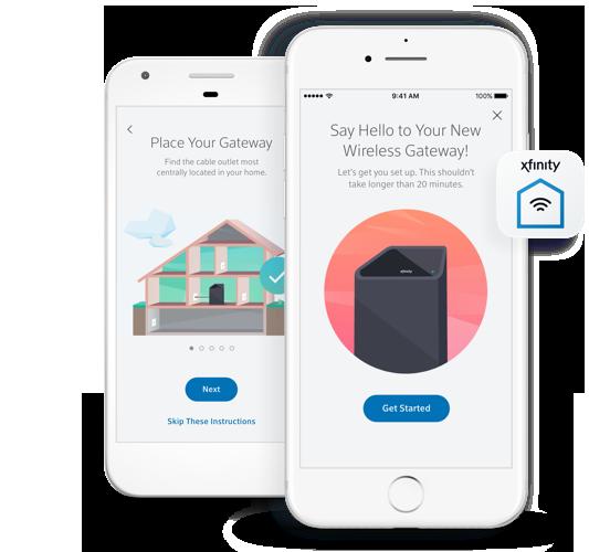 dos teléfonos celulares mostrando pantallas de la home security app