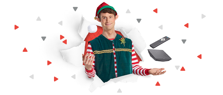 Elf with Xfinity equipment