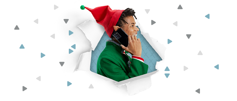 Elf on the phone