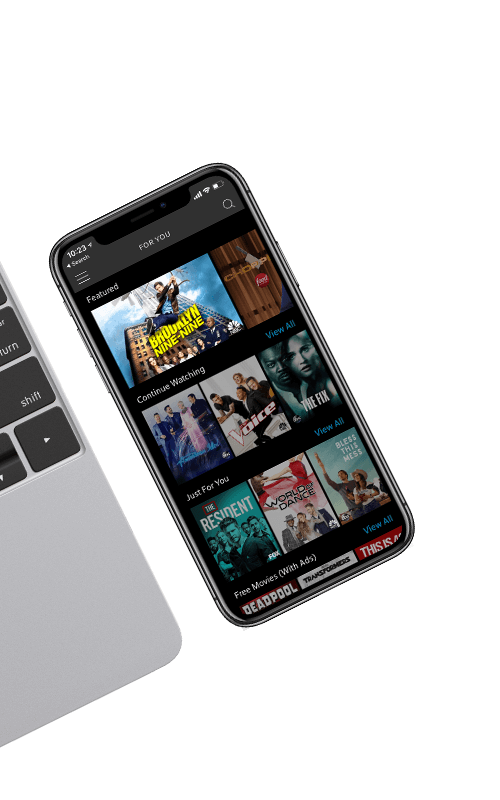 TV shows displayed on smartphone