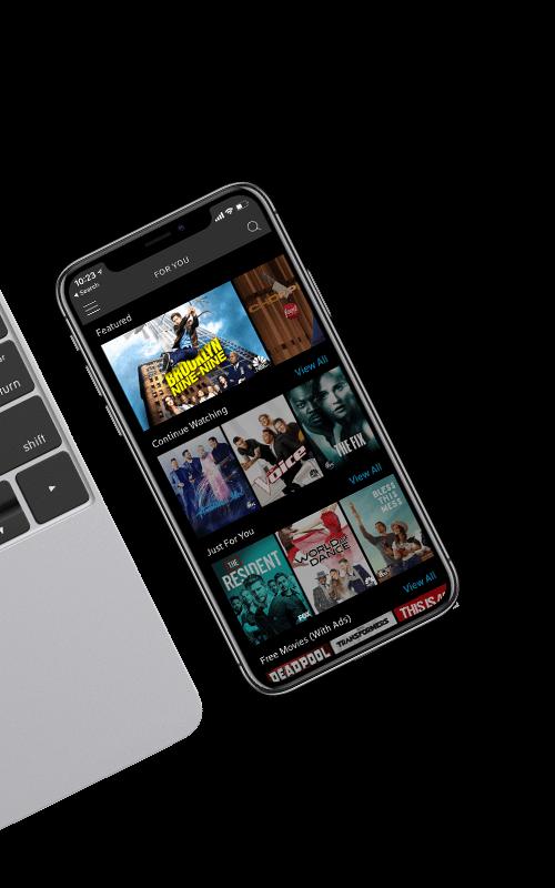 Shows de TV mostrados en smartphone