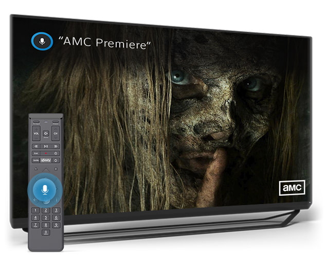 AMC Premiere search on X1 Voice Remote