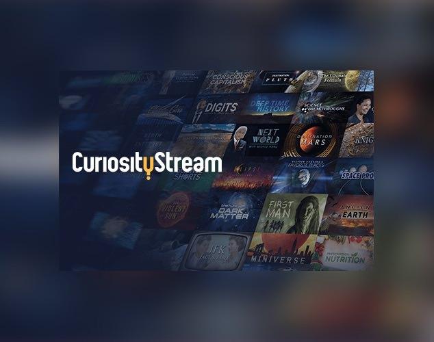 Logotipo y opciones de Curiosity Stream