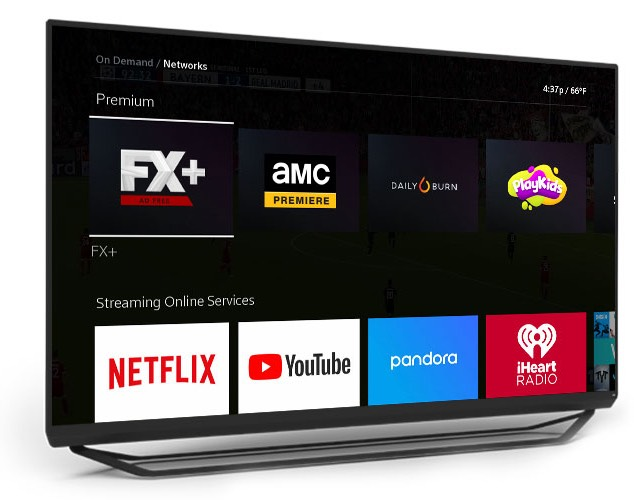TV showing Apps on the X1 Platform