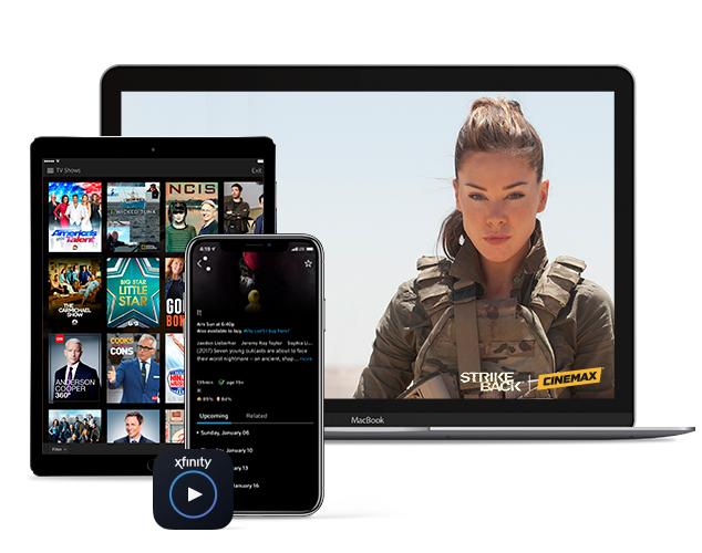 Strike Back en Laptop y Cinemax desplegado en tableta y smartphone