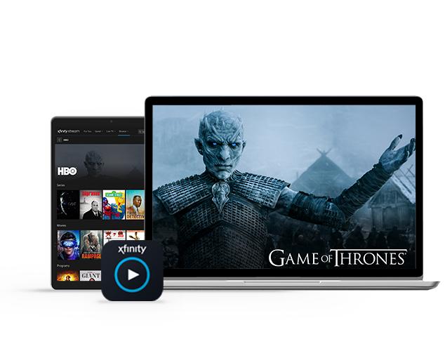 televisión y teléfono celular mostrando el rey de la noche de games of thrones