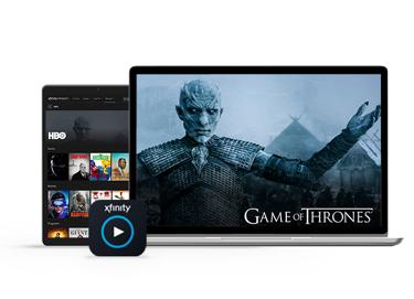 teléfono celular y televisión mostrando el rey de la noche de game of thrones
