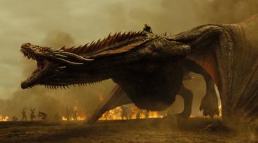 dragón con fondo de fuego