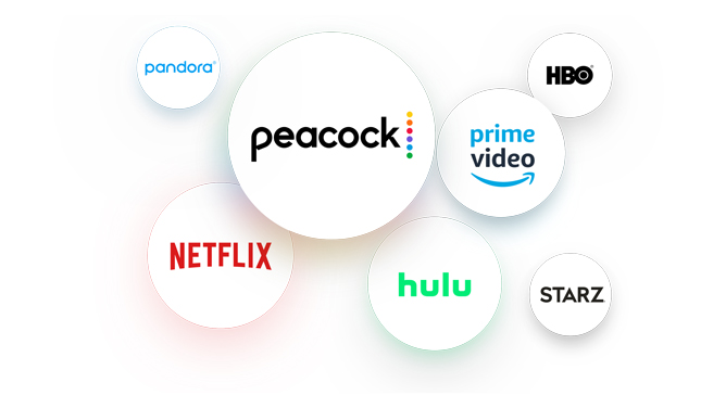 Bubbles for Peacock, Netflix Pandora, Hulu, Prime Video, HBO, and Starz