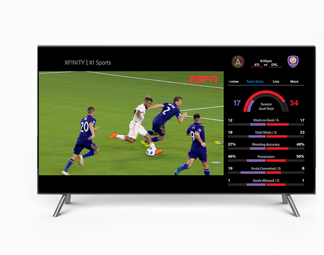 Sports playing on TV screen