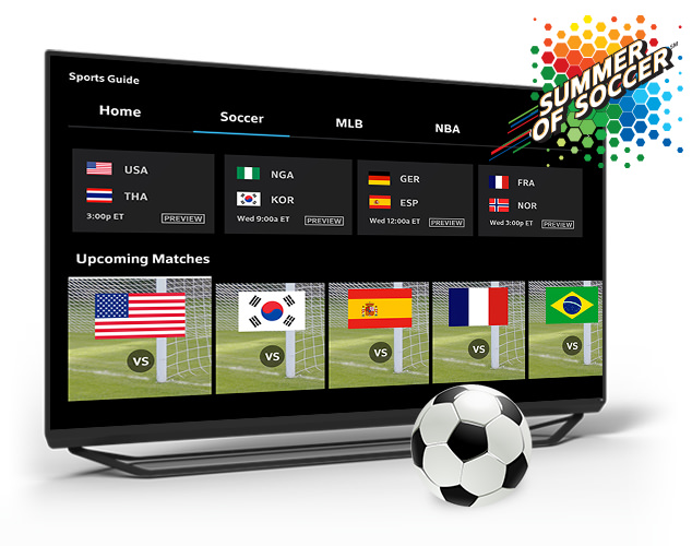 Sports Guide on TV screen