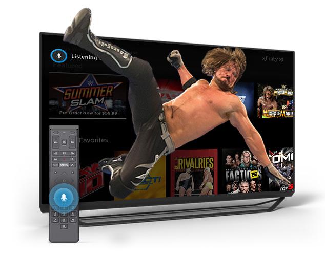 Luchador en televisor