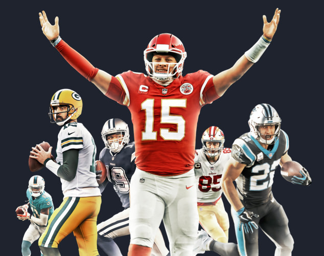 Patrick Mahomes, Aaron Rodgers and other NFL Athletes