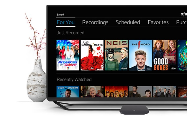 XFINITY X1 TV and vase mobile
