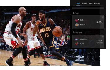 XFINITY X1 Sports Mobile