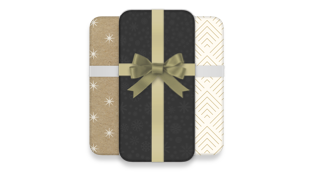 Smartphones wrapped in a bow