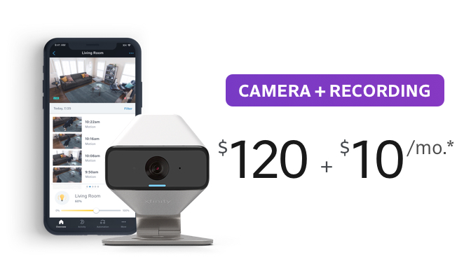 Camera + Recording $120 + $10/month