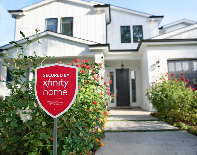 XH Sign in front of home