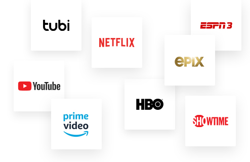 logotipos de varias plataformas de streaming
