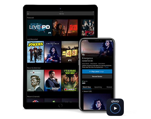 Mitad de imagen haciendo streaming- iPad y teléfono
