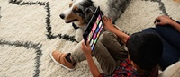 stream watchathon mobile - boy and dog