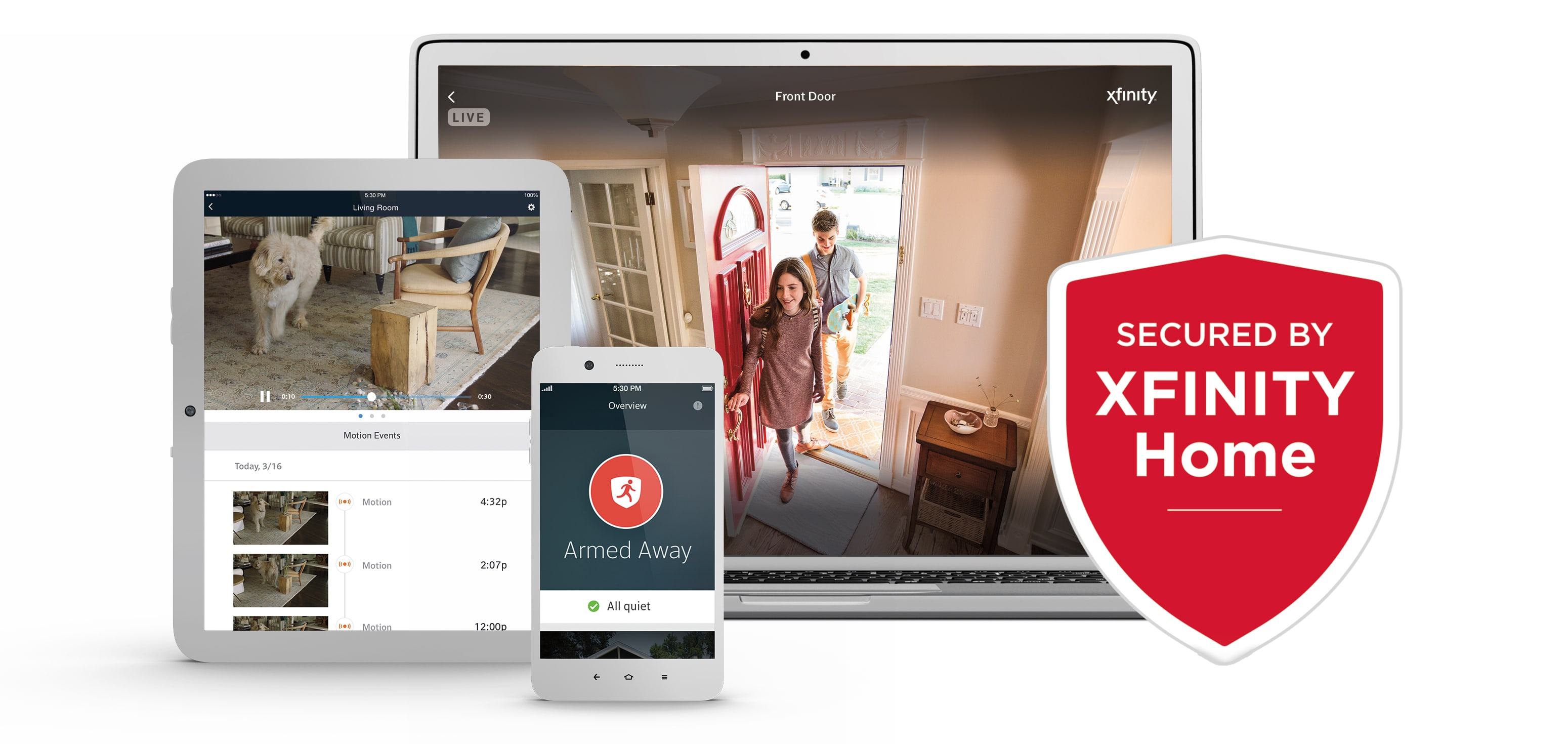XFINITY Home App on a tablet