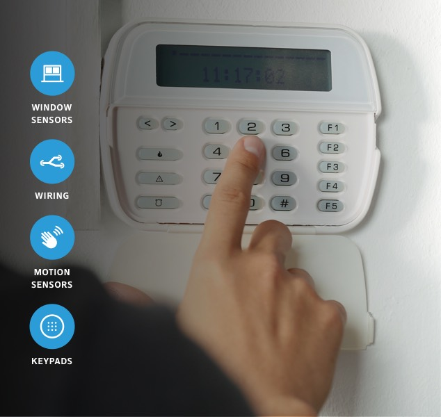Woman adjusting XFINITY Home devices