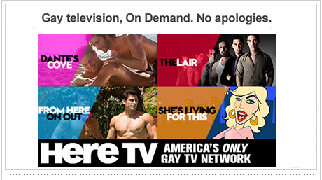 Gay television On Demand. No apologies.